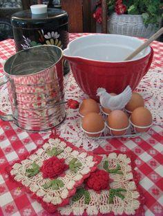 Vintage style Kitchen baking items.