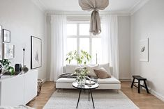 my scandinavian home: Beautiful small space inspiration - Swedish style! Small Space Living, Small Spaces, Living Spaces, Living Room, Studio Apartment Decorating, Interior Decorating, Modern Home Interior Design, Swedish Style, Scandinavian Living