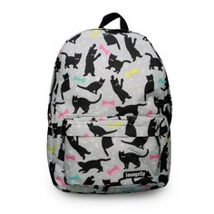 LOUNGEFLY CATS AND BOWS PRINT BACKPACK