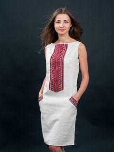 Платье серое с вышивкой - Volyns ka Vyshyvanka - 2800814 Enkla Klänningar 7bd5e08dcce95