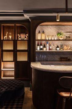 Buena Vista Hotel in Mosman by SJB Interiros & Tess Regan Design. Deco Restaurant, Restaurant Design, House Restaurant, Restaurant Shelving, Bar Lounge, Cafe Bar, Bar Interior Design, Interior Decorating, Loft Design