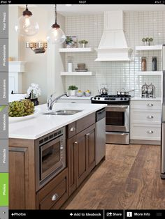 Lights, flooring and island cabinet color