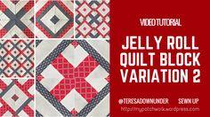Video tutorial: jelly roll block variation 2