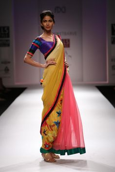 Multicoloured Saree