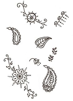 simple henna design for beginners - Google Search