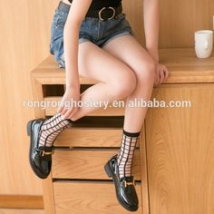 2017 Hot sale lady colored checkered short socks trendy cute socks