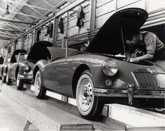 MGA's on the line. 1959