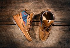 Handcrafted HIGHTOP Leather Boat Shoes  Distressed by lovejules, $350.00