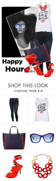 """Bottoms Up: Happy Hour"" by lustydame ❤ liked on Polyvore featuring M&Co, LC Trendz, Tory Burch, Chanel, Margarita, Alexander Wang, Alisha.D and plus size clothing"