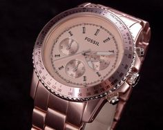 Fossil CH2707 Rose-Gold Chrono Watch