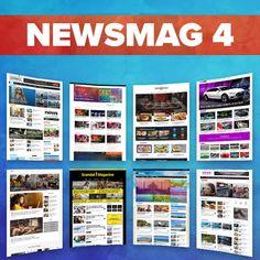 Newsmag – News Magazine Newspaper Cloud Template, Sticky Navigation, Job Website, Instagram Widget, Themes Themes, Wordpress Template, Article Writing, News Magazines, Magazine Template