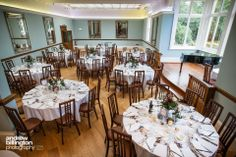 Gorgeous Ballroom at Pendrell Hall - the perfect spot for a delicious 3 course wedding breakfast meal Duck Egg Blue Wedding, Wedding Flowers Cost, Country House Wedding Venues, February Wedding, Hall Interior, Documentary Wedding Photography, Wedding Breakfast, Contemporary Interior, Table Settings