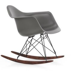 The RAR Rocking Chair Winter Special is a time-limited special edition of the classic Rocking Chair by Charles and Ray Eames. A warm grey shell on a black road base with maple rockers treated with a rich dark stain