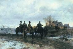 """Maksymilian Gierymski """"Polski patrol w 1830"""", 1869"""
