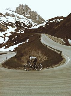 my morning downhill training.