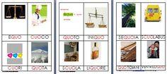 Metodo Montessori schede delle nomenclature per le difficoltà ortografiche CUO QUO - Lapappadolce