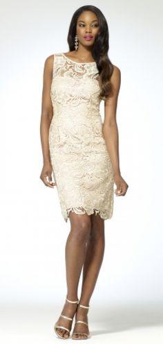 Lace Sheath Dress by Cache