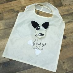 "Reusable Foldable Dog shopping Bag ~ measures 15"" x 15"" ~ this item helps feed 7 shelter dogs ~ isn't this too cute for words"