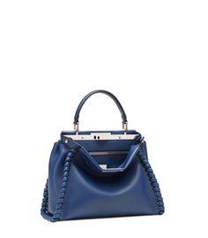 Fendi Blue Large 'Peekaboo' Bag