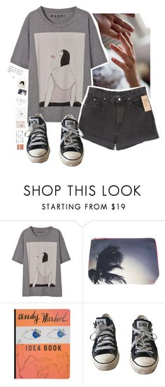"""""""partons, dans un baiser, pour un monde inconnu"""" by gennabug00 ❤ liked on Polyvore featuring Marni, Dezso by Sara Beltrán, Wrangler, Burberry and Converse"""