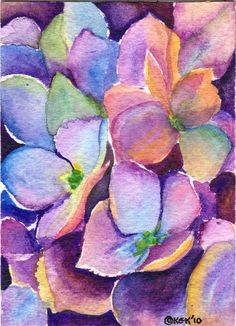 Magnificent Hydrangea Painting by Kari Kryder - Magnificent Hydrangea Fine Art Prints and Posters for Sale