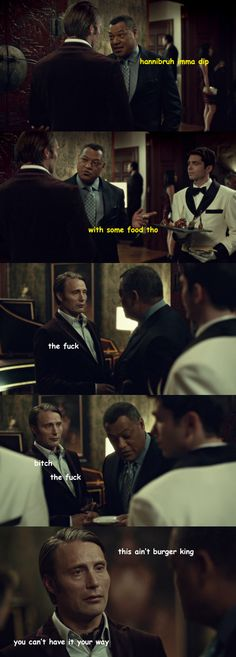 hannibruh <<< Omg XD It broke my heart watching this scene, to be honest, but this makes it better XD