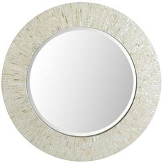 Select mother-of-pearl shells are inlaid to form the ivory mosaic frame that defines this gorgeous wall mirror. The piece is a new silhouette taken from a look that's been a Pier 1 best-seller and reflects just why seafaring cultures have always collected such treasures for good luck. Take one home and you're sure to feel fortunate, too.