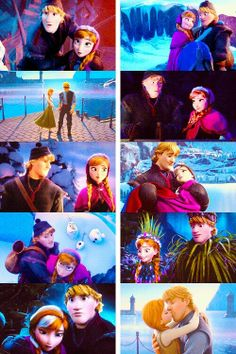 Anna and Kristoff may not have a love song they just have all of these awesome little moments