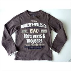 SISLEY Junior Boys BROWN BUTLER'S WALES Embroidered Long Sleeved Top 7-8yr 130cm Listing in the T-Shirts,Age 5-10,Boys Clothing,Clothes, Shoes, Accessories Category on eBid United Kingdom