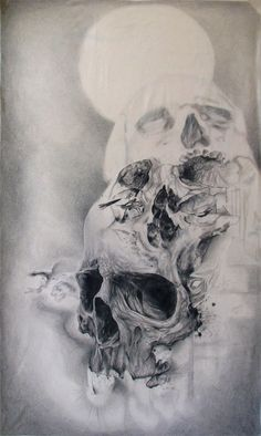 Skull art by Sergio Barrale