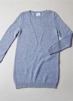 1316 DIY: Modell 13 Lang genser med trekantmønster #strikk