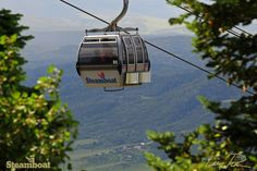High above the Yampa Valley in the Steamboat Resort gondola. Steamboat Springs, Colorado