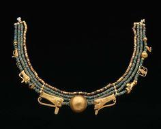 elhieroglyph:        illuminatetheworld:            egyptian necklace          c. 2140 BCE