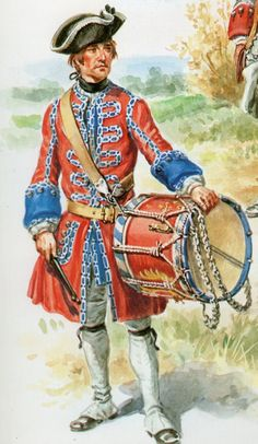 French; Infantry Regiment La Reine, Drummer 1755 by Eugene Leliepvre