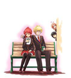 Jaune being smooth (メテオ on Pixiv) : RWBY Dc Anime, Rwby Anime, Anime Art, Team Jnpr, Team Rwby, Fanart Rwby, Rwby Jaune, Rwby Pyrrha, Rwby Comic