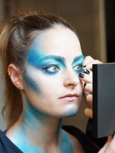 Halloween Makeup Idea: Pretty Fish: Makeup: allure.com