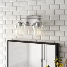 AllModern Tristin Modern & Contemporary Wall Mirror & Reviews   Wayfair Grey Bathroom Vanity, Vanity Set, Bathroom Faucets, Bathroom Wall, Bathrooms, Bathroom Inspo, Bathroom Inspiration, Bathroom Ideas, Solid Surface
