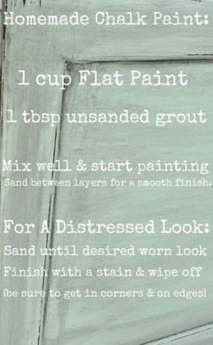 homemade chalk paint recipe by robbieread
