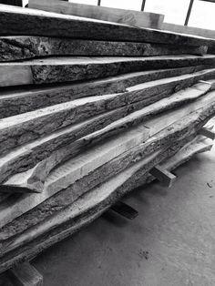 Many ash slabs