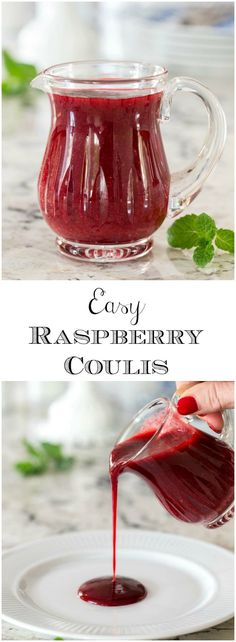 Just a fancy name for a delicious, super versatile raspberry sauce, this Easy Raspberry Coulis pairs fabulously with chocolate and a zillion other desserts!