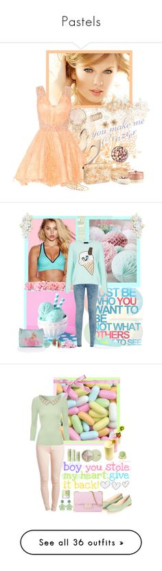"""Pastels"" by cupcakedream21 ❤ liked on Polyvore featuring Paul Andrew, Gemma Simone, COVERGIRL, Aéropostale, Naked Princess, ALDO, Merola, Cotton Candy, Jellycat and Jigsaw"