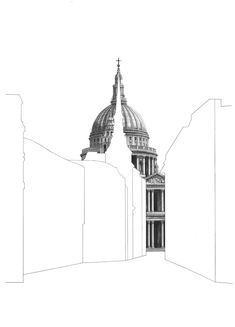 Minty Sainsbury is a London based Artist specialising in architectural pencil drawings. Shop limited edition signed prints on her online store. Architecture Concept Drawings, Amazing Architecture, Architecture Art, Pantheon Paris, Glasgow School Of Art, Architectural Prints, A Level Art, New Art, Cathedral