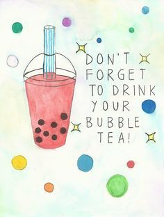 bubble tea tumblr - Google Search