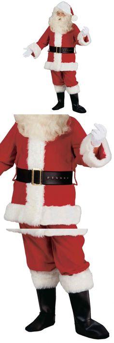 Men 52762  Santa Claus Suit Adult Deluxe Velvet Christmas Costume Fancy  Dress -  BUY e987cb459eb4