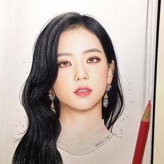 Drawing pencil blackpink new Ideas Kpop Drawings, Pencil Drawings, Art Drawings, Blackpink Jisoo, Pink Drawing, Black Pink Kpop, Face Sketch, Fan Art, Color Pencil Art
