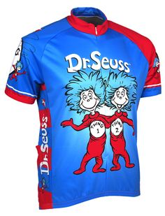 Thing 1 and Thing 2 Dr. Seuss Cycling Jersey by Retro Image Men s Short  Sleeve Medium 77ccb4966