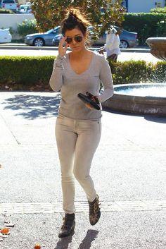 Kourtney Kardashian wearing Chloe Suzanna Booties