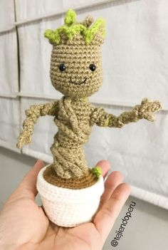 Crocheted Rocket Raccoon and Baby Groot I did #marvel #rocket ... | 351x236
