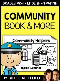 This downloads in English plus a FREE Spanish version. It has a variety of resources for your community helper unit or lessons. It includes a mini book, comprehension questions and graphic organizers. I made these community helpers activities to use with my beginner readers.