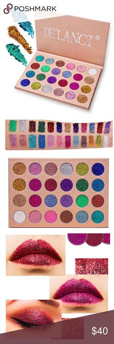 Eyeshadow Palette 🎨 😍😍 24 colors of Glitter Eyeshadow Palette 🎨  - Professional Highly Pigmented and Long-Lasting Mineral Shimmer Makeup Pallet Eye Shadows Flash Colors -The effect of colors is good. It very sparkly, gorgeous and the powder isn't loose. - Beautiful shinning moving for a party time  - Mainly suitable for eyes,lip,cheek and suitable for all skin types,not for the body and nail. DE'LANCI Makeup Eyeshadow